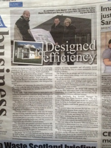 Newspaper cut Tigh Grian