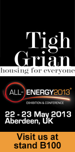 We'll also be at the All Energy Exhibition, Aberdeen, in May 2013