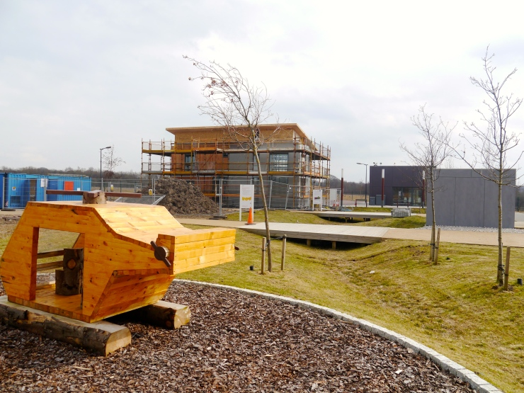 General view of BRE Innovation Park, Ravenscraig, with Resource Efficient House and Children's Play Area