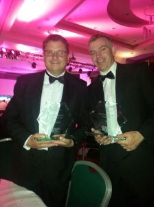 Alan and Eamon with the Sustainable Ireland Award