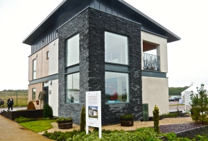 Side view of Resource Efficient House