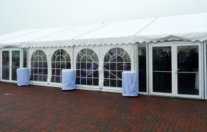 The marquee for the presentations and lunch
