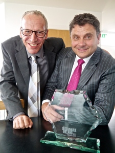 Robert Cowie and Alan Johnston proud of the Sustainable Ireland Award