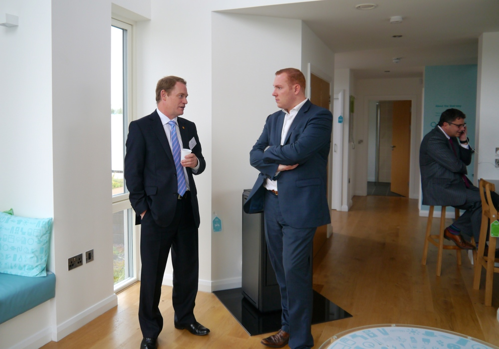 BIG day at BRE Innovation Park, Ravenscraig: Official opening of Resource Efficient House with Cabinet Secretary Richard Lochead (4/6)
