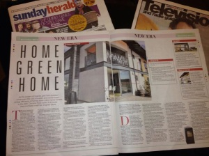 Home Green Home in Sunday Herald November 3 2103