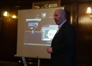 Colin explaining Tigh Grian's Alva project to Clackmannanshire Council March 2013