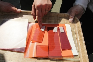 more trials to find the right terra cotta colour
