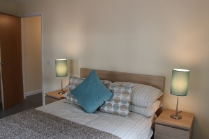 bedroom with sustainable Ikea furniture