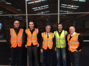ÜserHuus, EDM Spanwall and Solmatix in front of test wall in Belfast