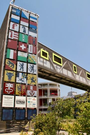 """""""Swissness"""" Facade at Umweltarena"""