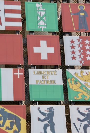 """Swissness"" Facade at Umweltarena detail"