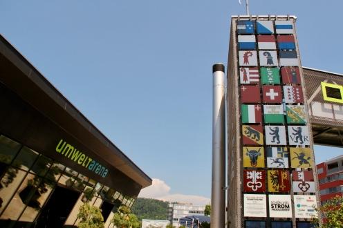 Inauguration Swissness Facade at Umweltarena