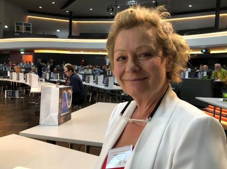 Jacqueline Schindler, President ÜserHuus Ltd at Conference at Kursaal Berne