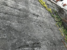 Wall superbly exposed South