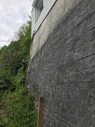 Measuring the wall superbly exposed South