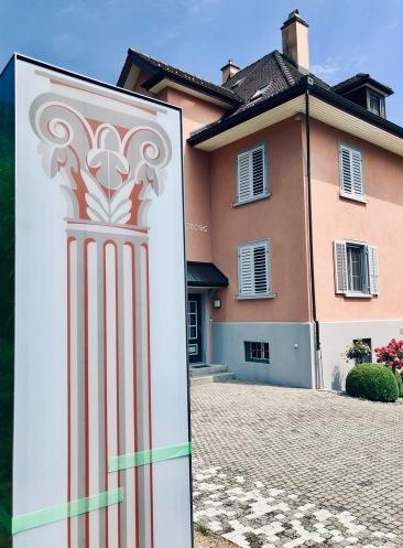 BIPV Pillar and House